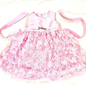 Gorgeous Pink Frill Dress with Broach Accent
